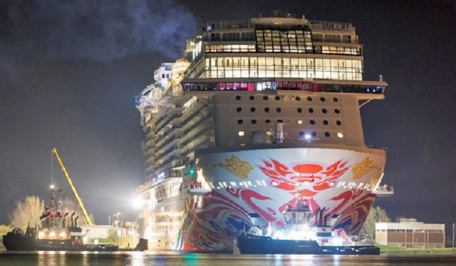 Norwegian Joy Begins Her Journey To China With Conveyance Along The