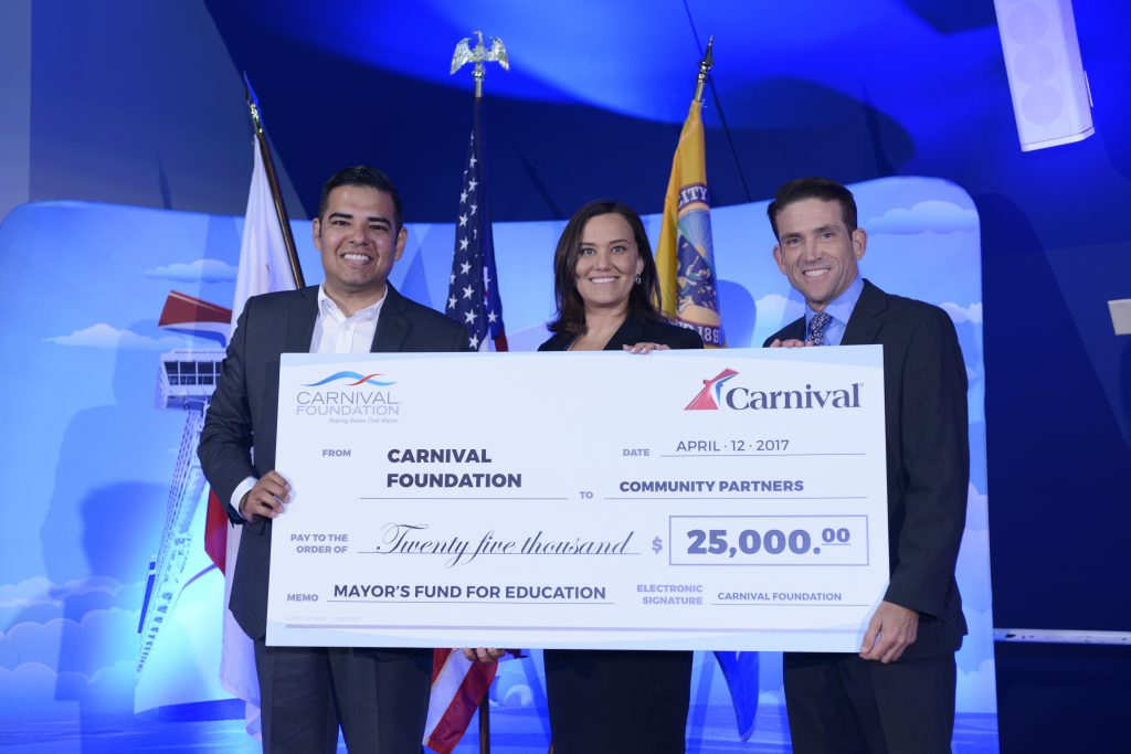 d9a00bee76 Carnival Cruise Line marked the beginning of a multimillion-dollar  renovation of its Long Beach Cruise Terminal facility to accommodate larger  ships and ...