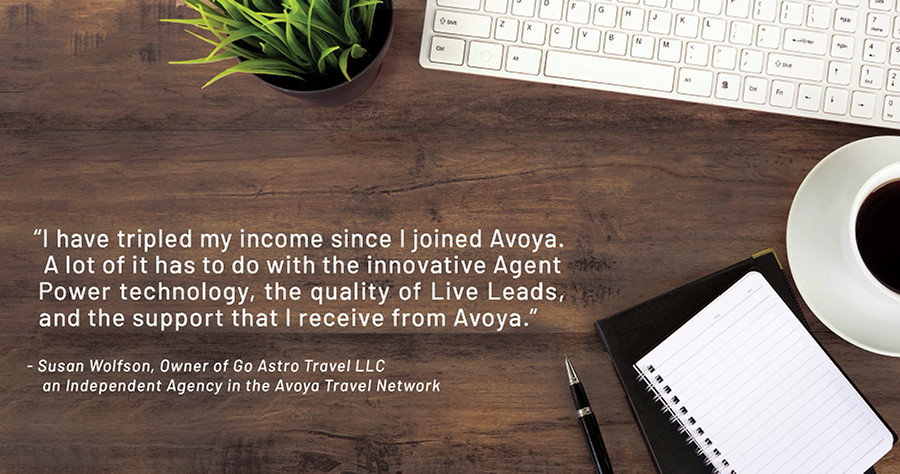 Avoya Host Agency Feature for Travel Agents