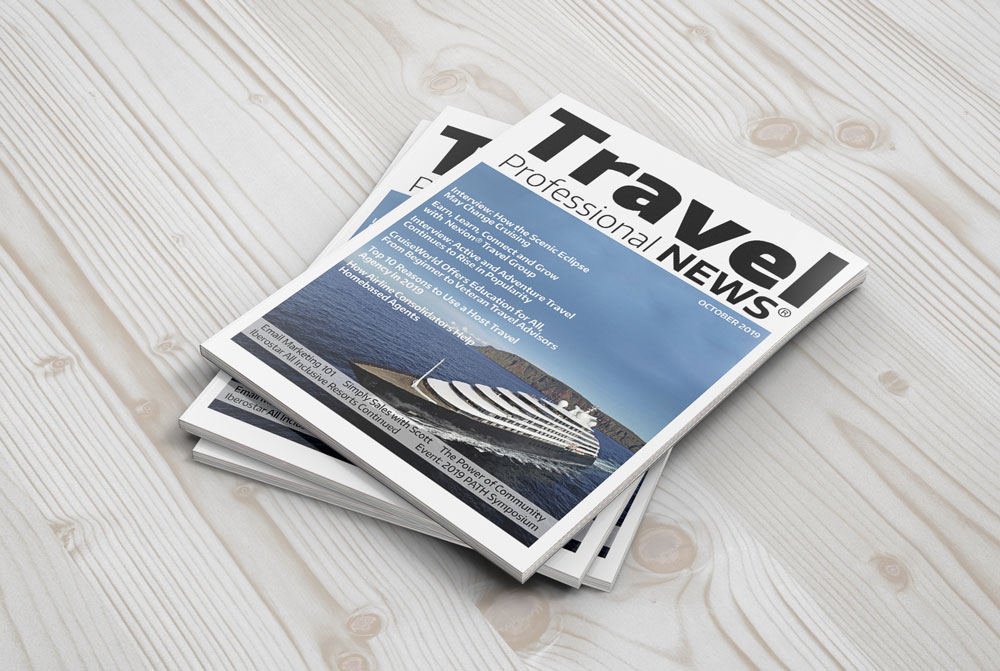 October 2019 Issue of Travel Professional NEWS for Travel Agents