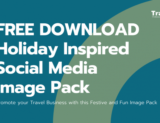 Free Download - Holiday Inspired Social Media Image Pack for Travel Professionals