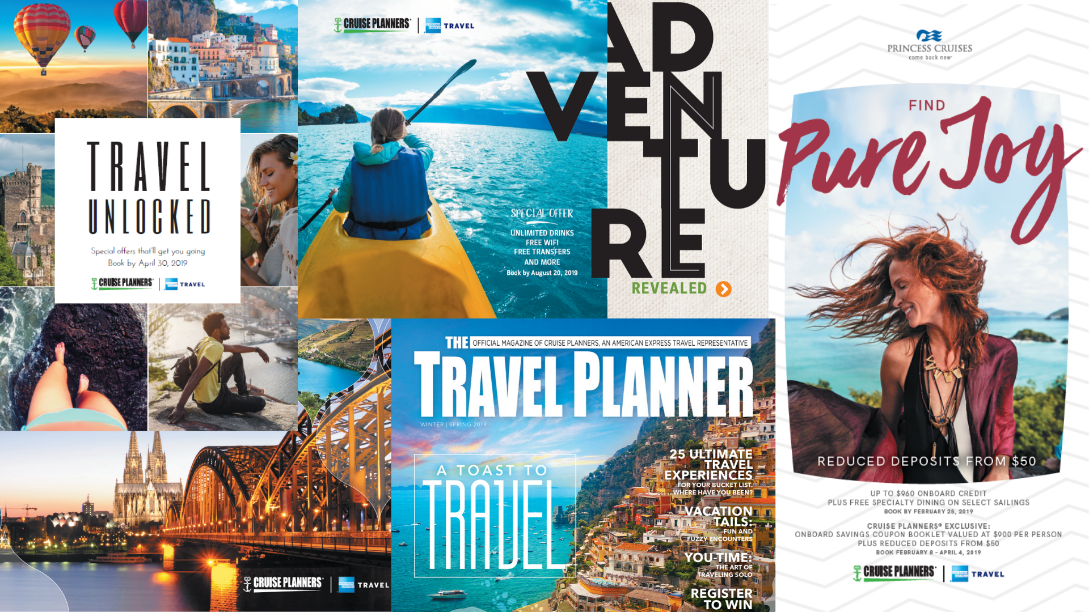 At Cruise Planners, we provide our travel advisors with award-winning marketing to help drive sales and free up their time to focus on other areas of the business.