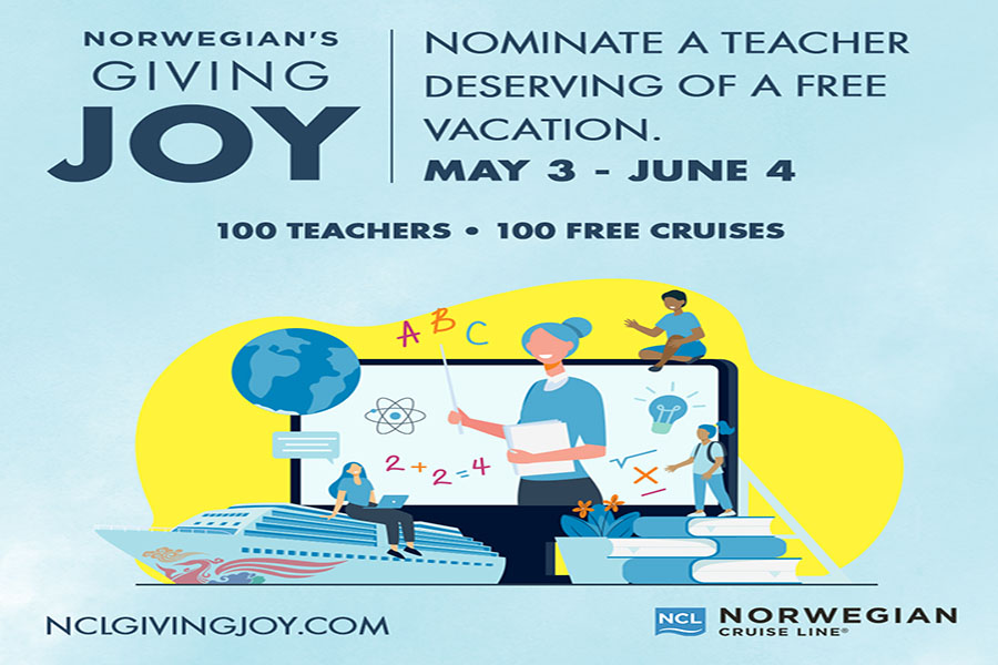Norwegian Cruise Line Celebrates Teacher Appreciation Week By 'Giving Joy' to Educators Across the U.S. and Canada