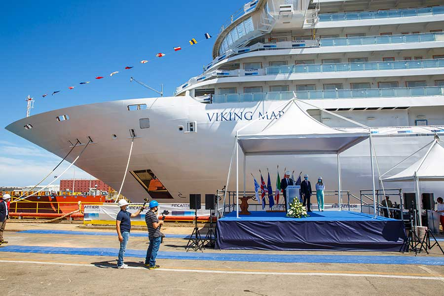 Viking Marks Float Out of Newest Ocean Ship